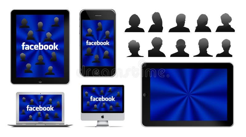 Réseau social sur Apple illustration stock