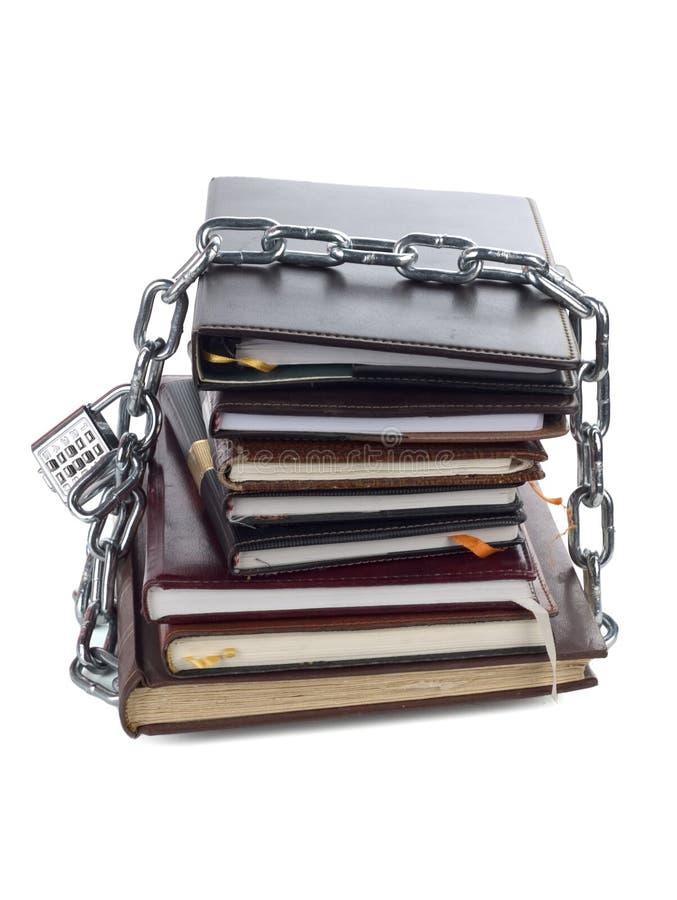 Réseau sur un cahier photos libres de droits