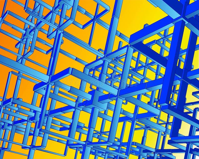 réseaux de Techno du vecteur 3D illustration de vecteur