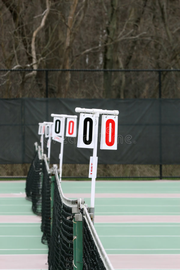 Réseaux de tennis images libres de droits