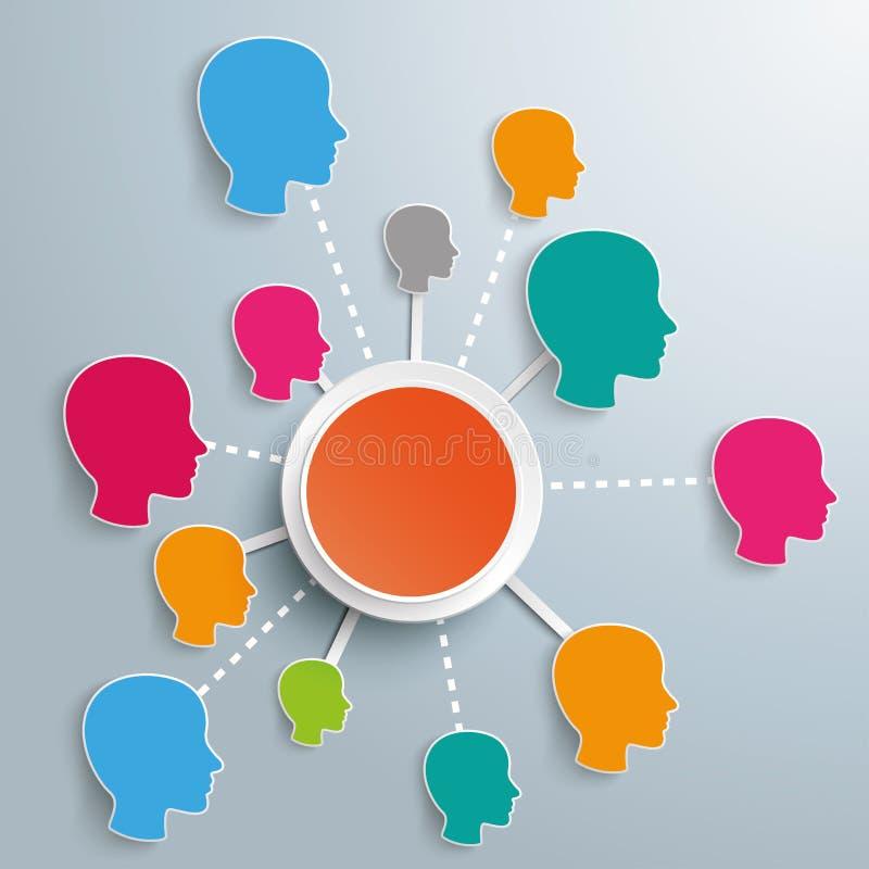 Réseaux sociaux réussis d'Infographic illustration stock