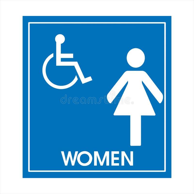 Réservé seulement pour des handicapés photos stock