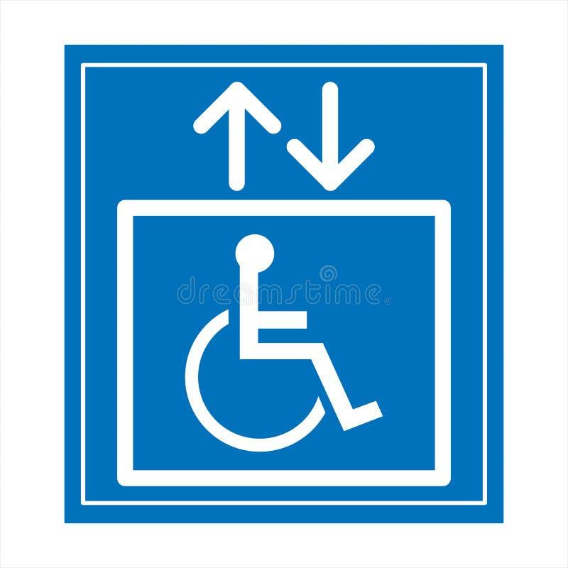 Réservé seulement pour des handicapés photo libre de droits