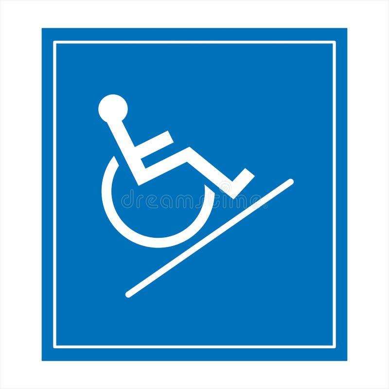 Réservé seulement pour des handicapés image stock
