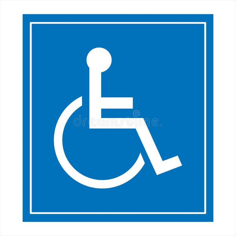 Réservé seulement pour des handicapés images libres de droits