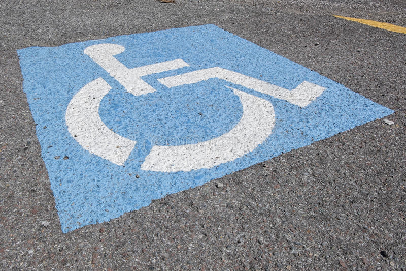 Réservé seulement pour des handicapés images stock