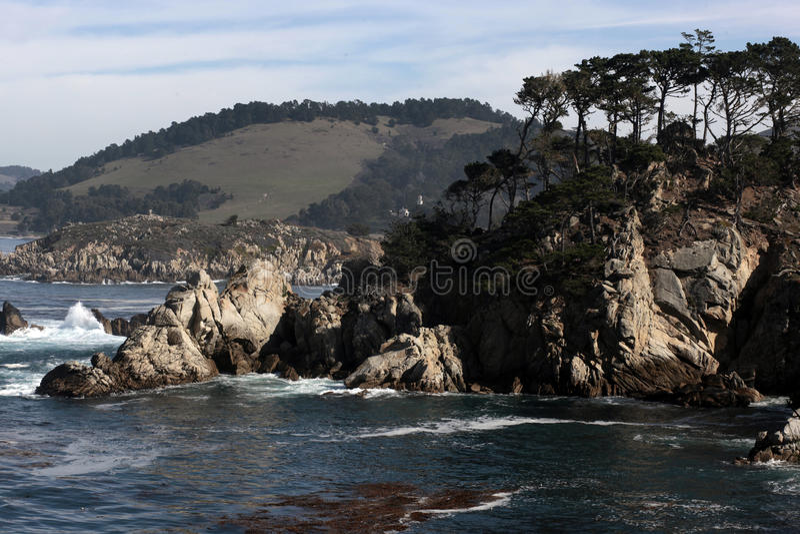 Réserve d'état de Lobos de point, la Californie photographie stock libre de droits