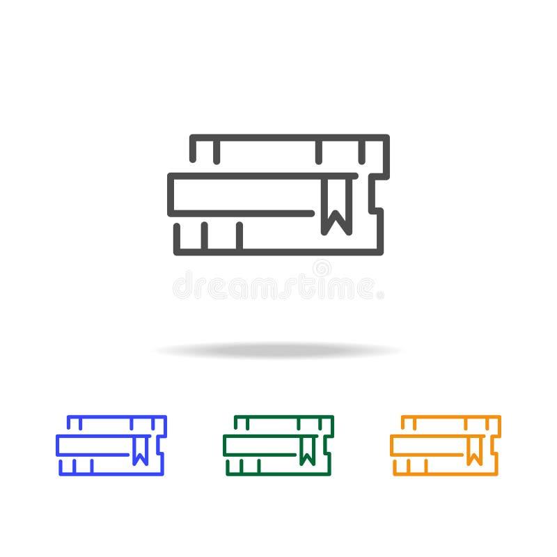 Réserve des graphismes Élément d'edecation pour les apps mobiles de concept et de Web La ligne mince icône pour la conception de  illustration stock