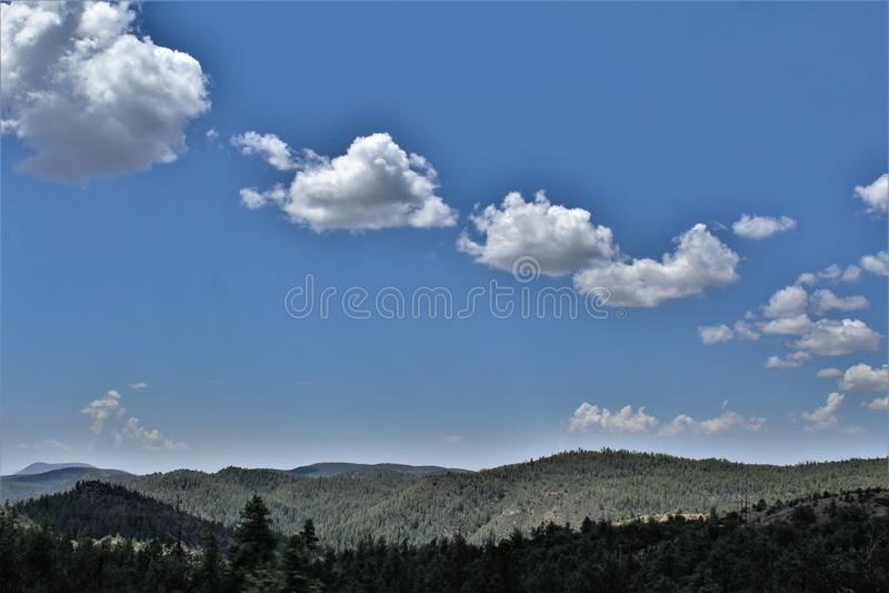 Réserve forestière de Tonto, Arizona U S Ministère de l'agriculture, Etats-Unis photos libres de droits