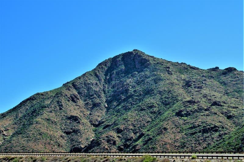 Réserve forestière de Tonto, outre de la route 87, l'Arizona U S Ministère de l'agriculture, Etats-Unis photos libres de droits