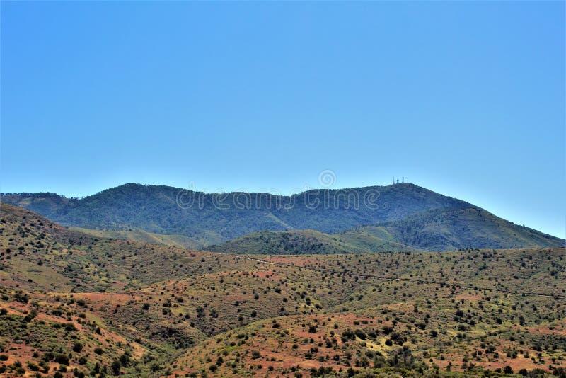 Réserve forestière de Tonto, outre de la route 87, l'Arizona U S Ministère de l'agriculture, Etats-Unis images stock