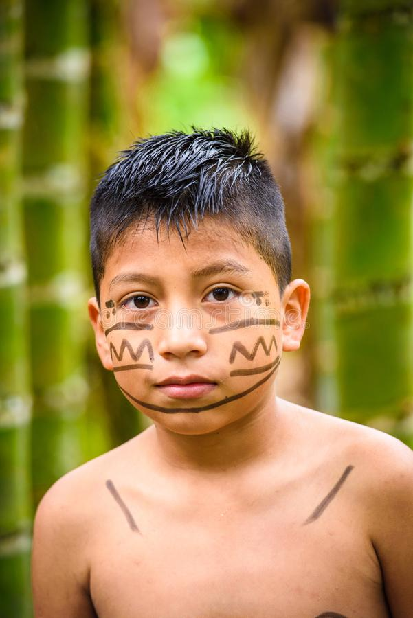 Réserve indienne, Equateur photographie stock libre de droits