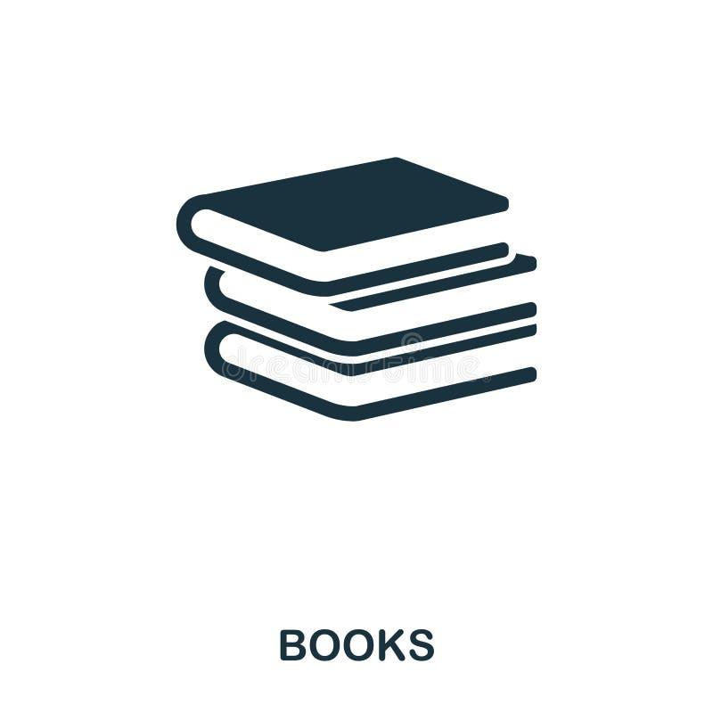 Réserve le graphisme Ligne conception d'icône de style Ui Illustration d'icône de livres pictogramme d'isolement sur le blanc Prê illustration stock