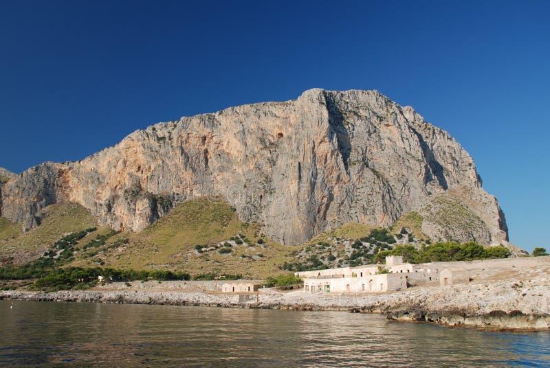 Réserve marine de Zingaro en Sicile, Italie images libres de droits