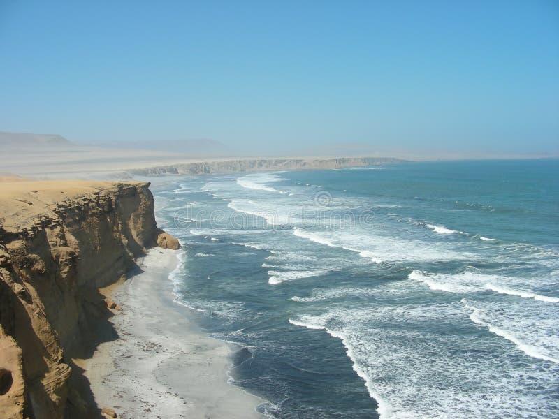 Réserve nationale de Paracas au Pérou photos stock