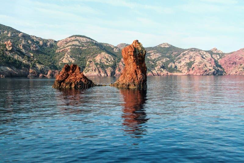 Réserve naturelle de Scandola, Corse, France images stock