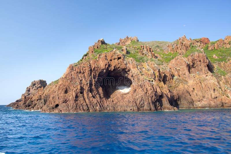 Réserve naturelle de Scandola, site de patrimoine mondial de l'UNESCO, Corse, franc photos stock