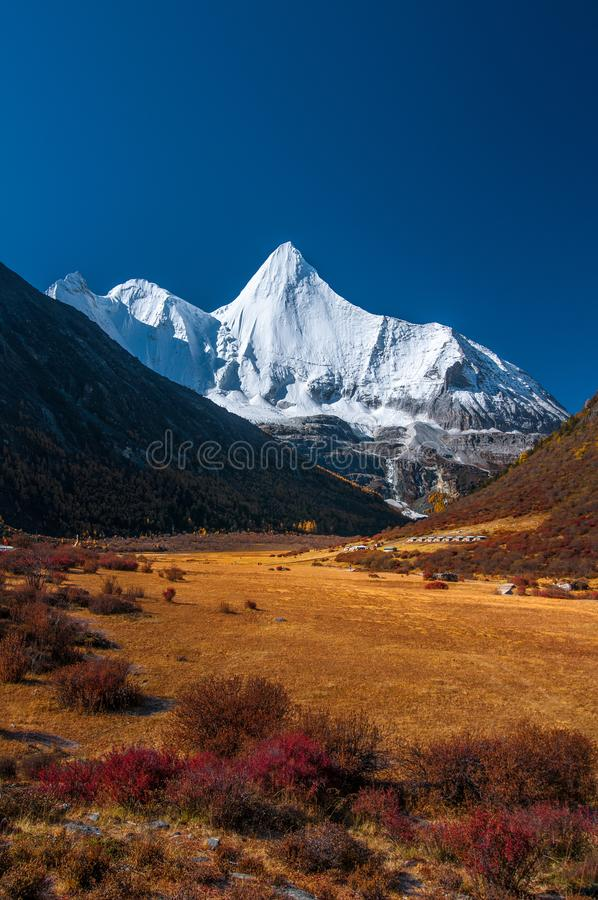 Réserve naturelle de Yading, province de Sichuan de la Chine image stock