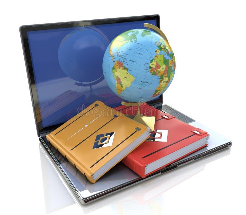 réserve vieux d'isolement par éducation de concept apprentissage en ligne dans le monde illustration libre de droits