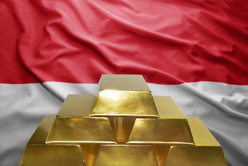 Réserves d'or du Monaco image stock