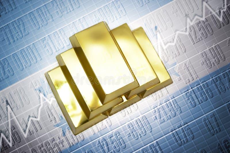 Réserves d'or honduriennes illustration libre de droits