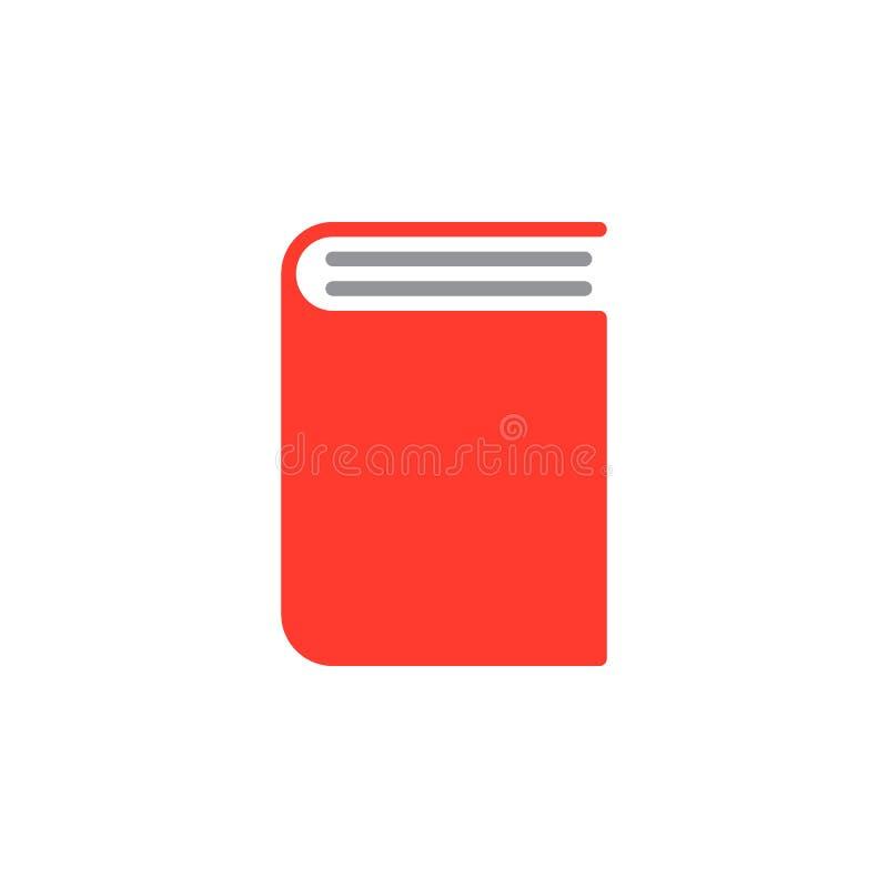 Réservez le vecteur d'icône, signe plat rempli, pictogramme coloré solide d'isolement sur le blanc illustration de vecteur