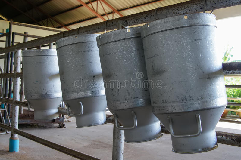 Réservoir à lait cru photographie stock
