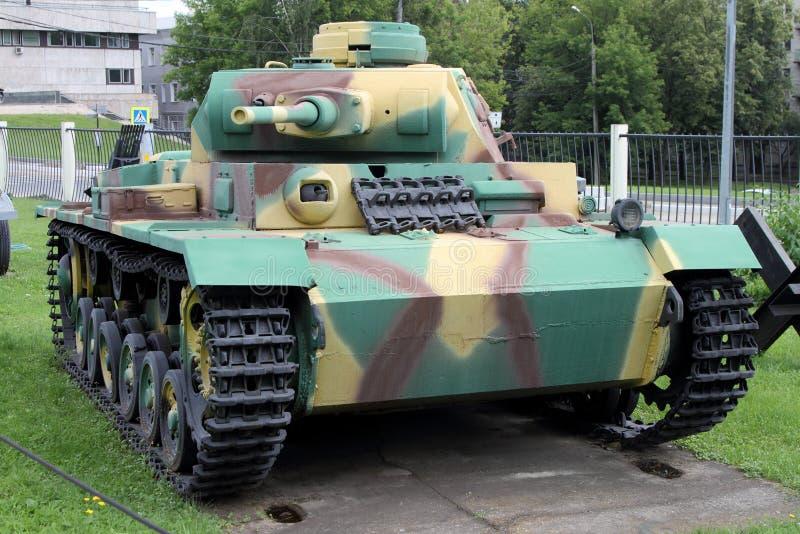 Réservoir Allemagne du milieu T III pour des raisons d'exposition d'armements dedans image libre de droits