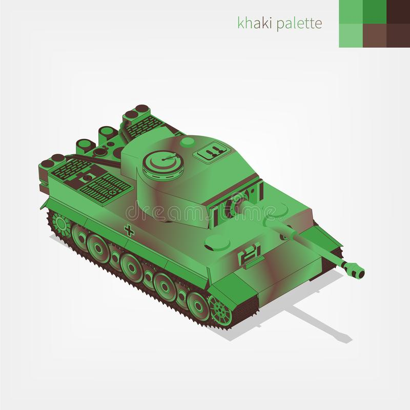 Réservoir allemand blindé militaire illustration de vecteur