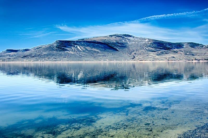 Réservoir bleu de MESA dans la réserve forestière le Colorado de gunnison images libres de droits