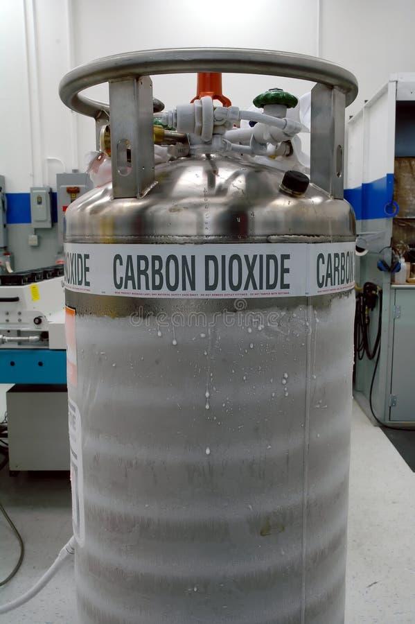Réservoir d'anhydride carbonique photographie stock libre de droits