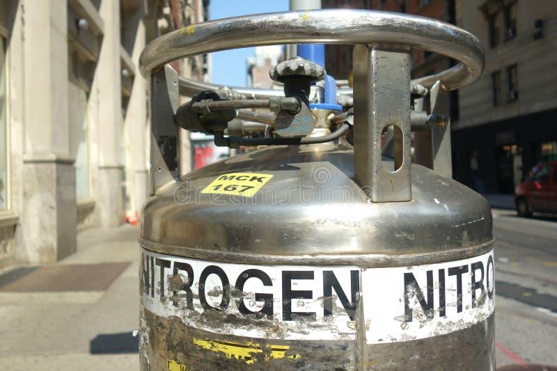 Réservoir d'azote images stock