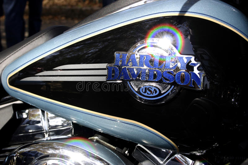 Réservoir (d'essence) de gaz ou de Harley davidson photo stock