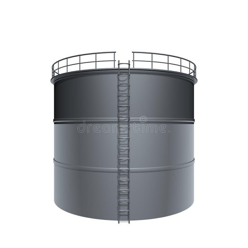 Réservoir d'huile illustration de vecteur
