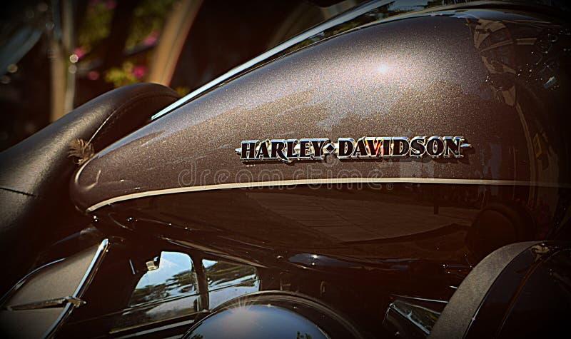 Réservoir d'uel de Harley Davidson photo libre de droits