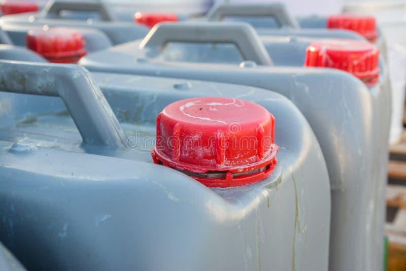 Réservoir dangereux de produits chimiques photo stock