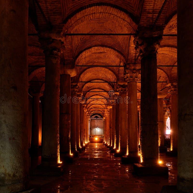 Réservoir de basilique - Yerebatan Sarnici photo stock