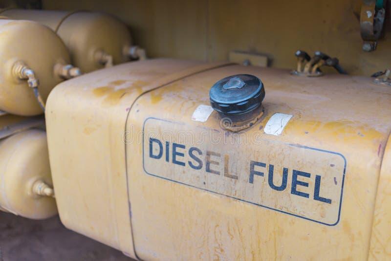 Réservoir de carburant en métal de grand camion photo libre de droits