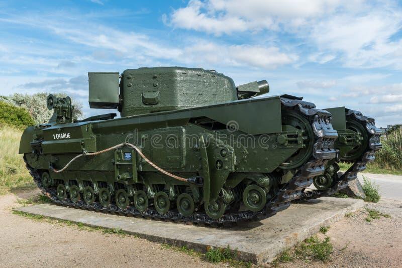 Réservoir de Churchill Mk IV AVRE image libre de droits