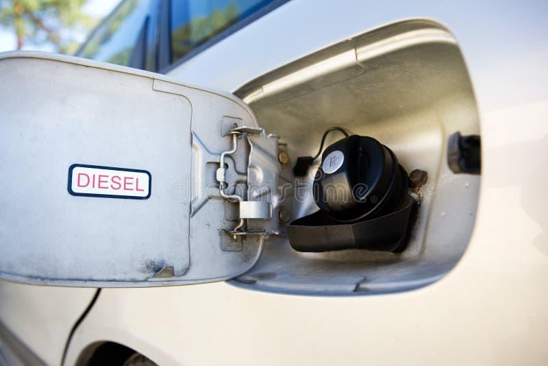 Réservoir de diesel de véhicule images libres de droits