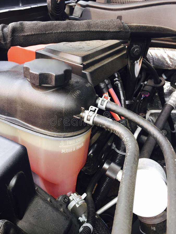 Réservoir de direction assistée de compartiment réacteur images libres de droits