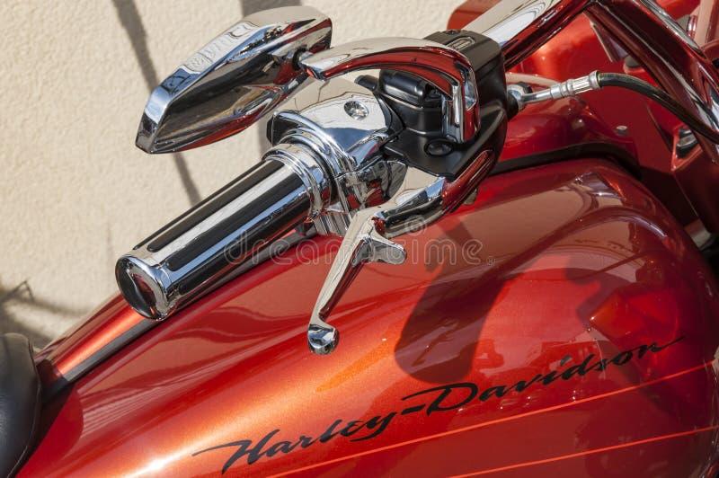 Réservoir de gaz de Harley Davidson, ton rouge solide, monochrome image libre de droits