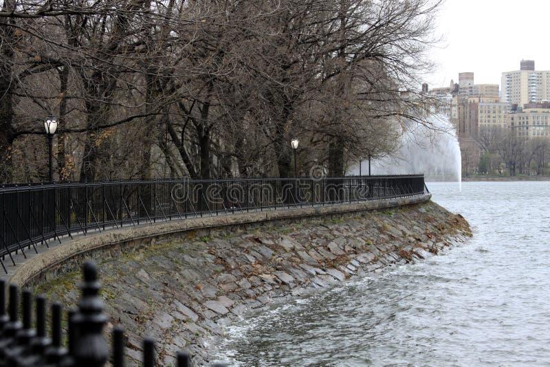 Réservoir de JKO au Central Park NY photo libre de droits