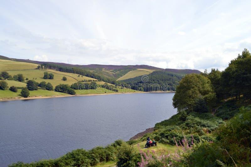 Réservoir de Ladybower dans Derbyshire photographie stock libre de droits