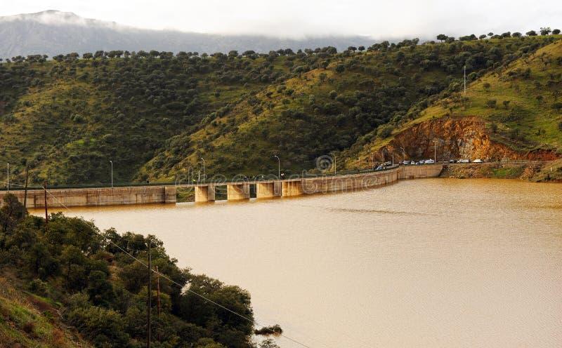 Réservoir de Montoro, province de Ciudad Real, La Mancha, Espagne de la Castille photos libres de droits