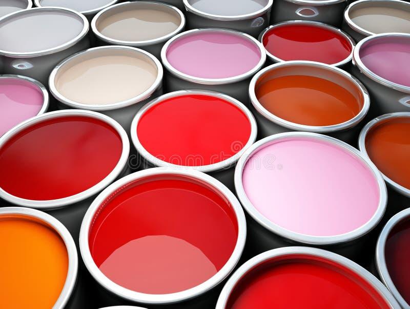 réservoir de peinture de couleur photos libres de droits