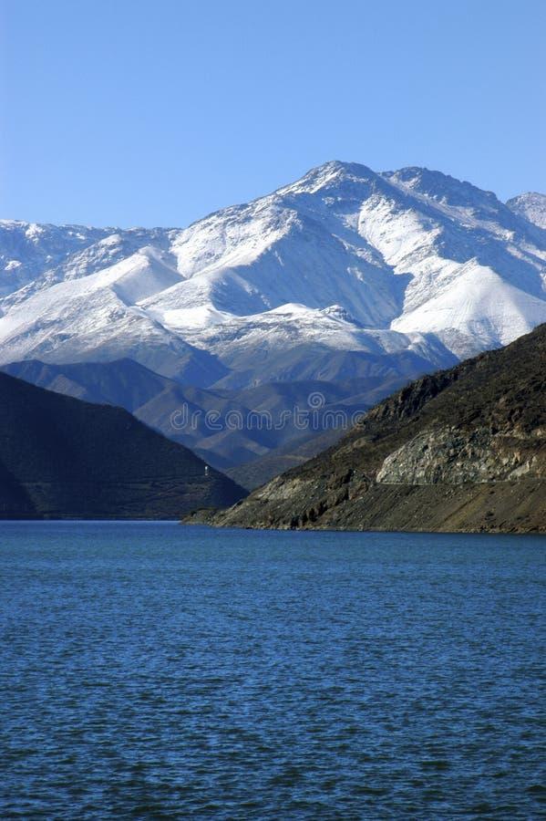Réservoir de Puclaro au Chili. images libres de droits
