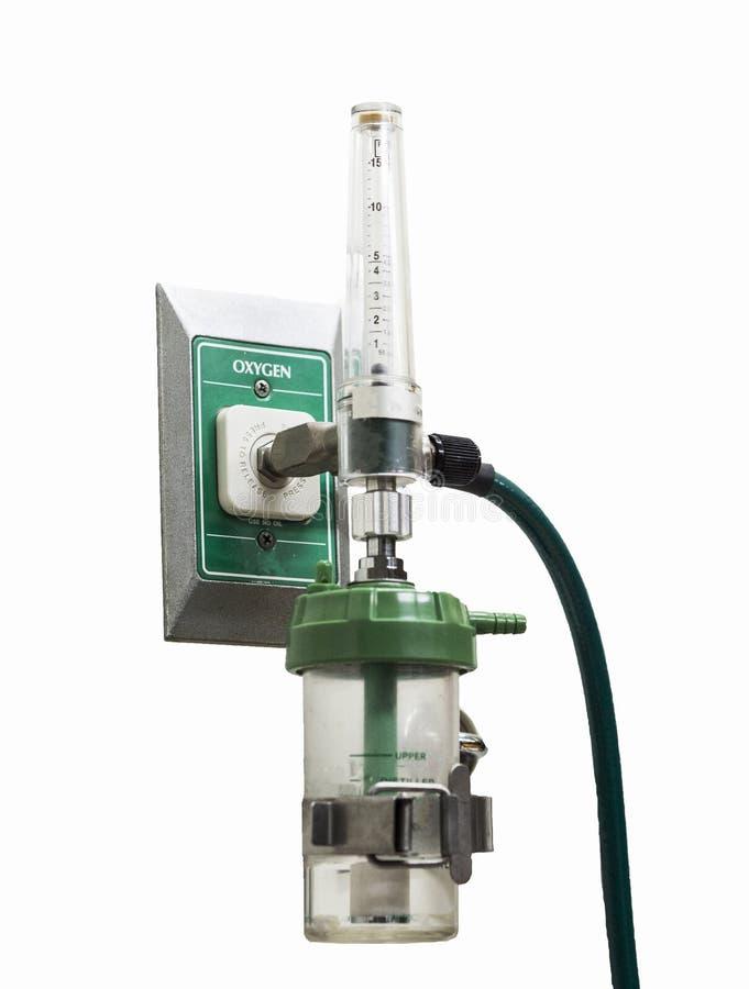 Réservoir de régulateur de cylindre d'oxygène Concept d'équipement d'hôpital photo libre de droits