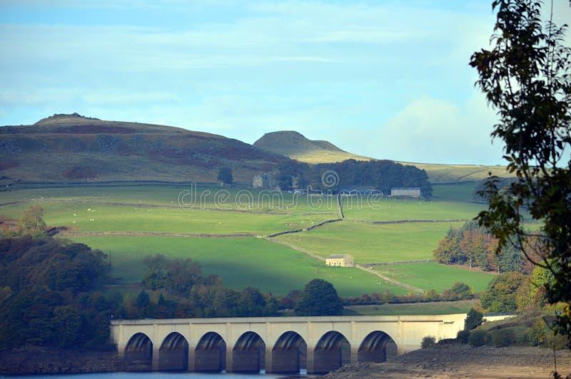 Réservoir Derbyshire Angleterre R-U de Ladybower images libres de droits