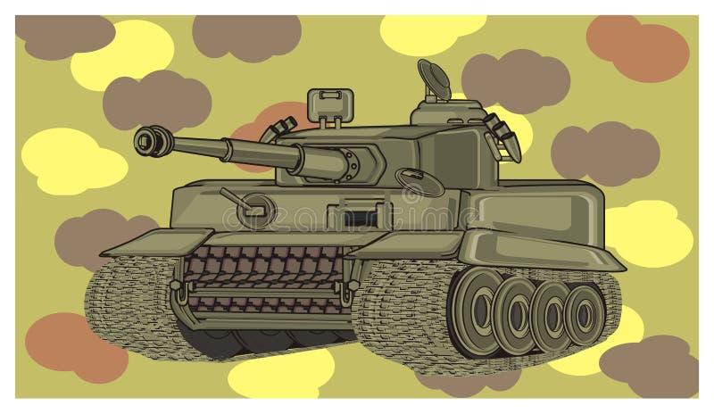 Réservoir et militaires illustration de vecteur
